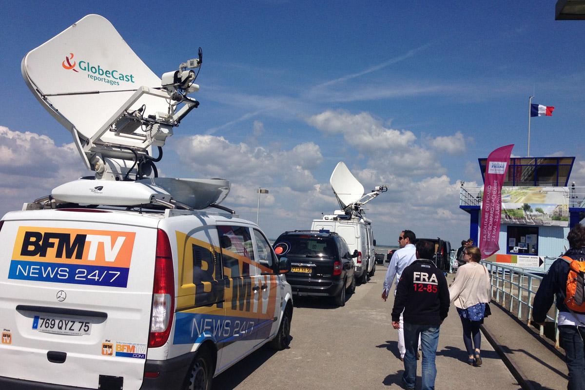 Liaison satellite événementielle