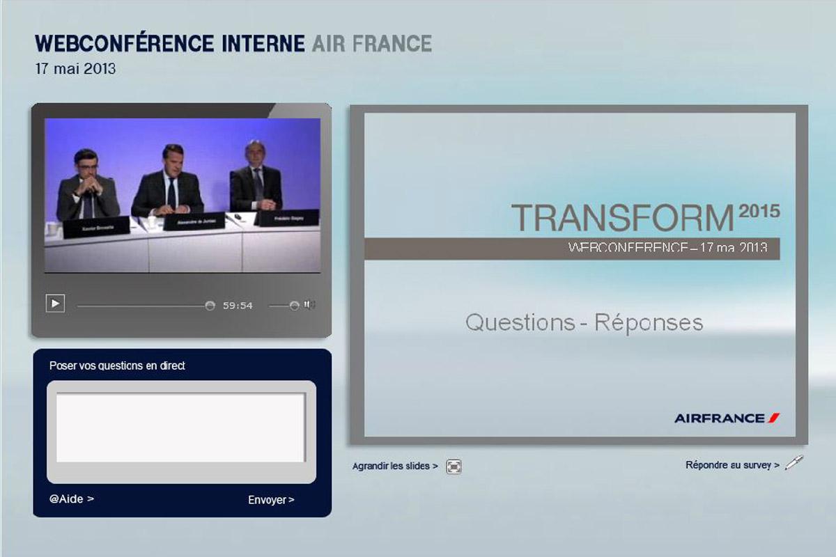 Web conférence Air France